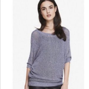 Express mesh pullover sweater size small